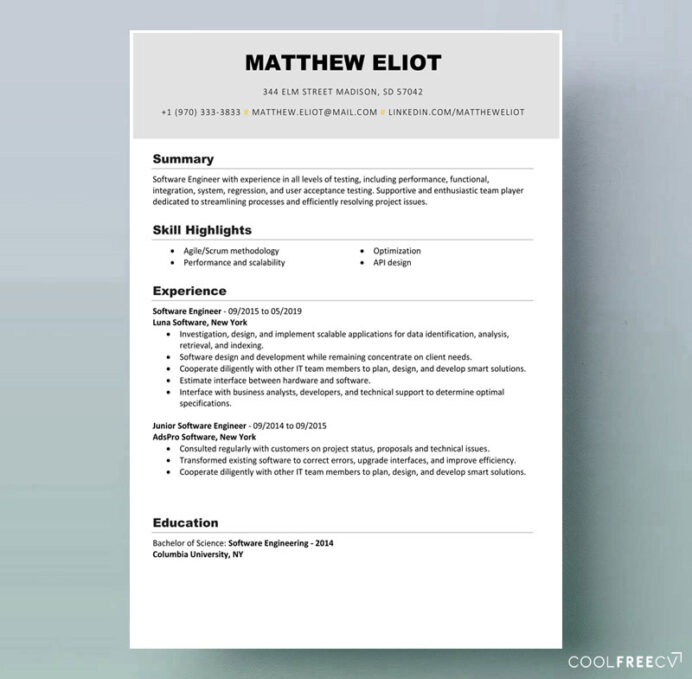 resume templates examples free word software engineer template example it professional Resume Desktop Support Engineer Resume Free Download