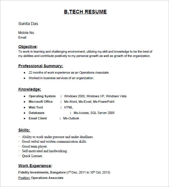 resume templates for freshers pdf free premium layout of tech fresher template rubric Resume Layout Of Resume For Freshers