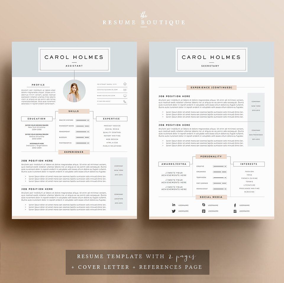 resume templates that ll help you stand out from the crowd gen girl typeface for Resume Resume Templates That Stand Out