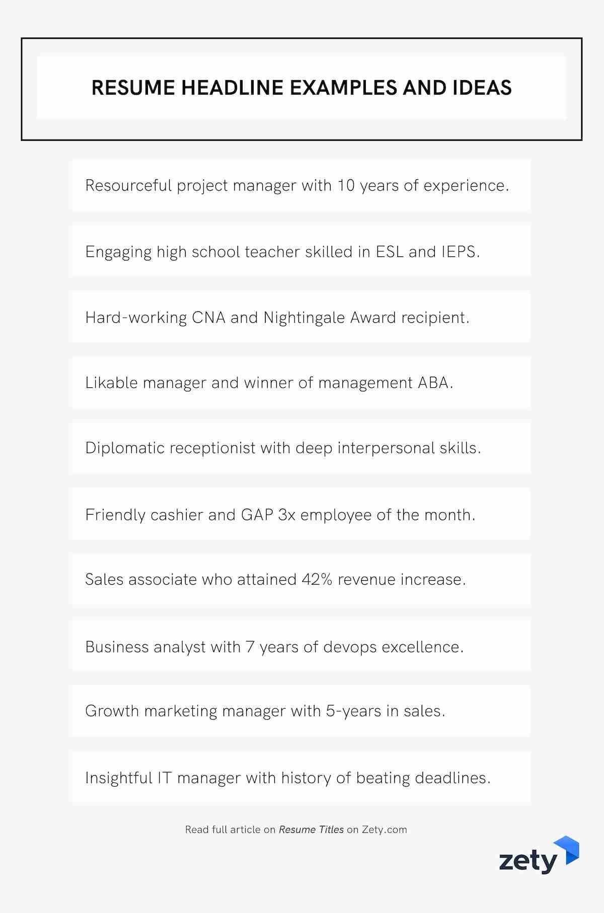 resume title examples good headline for any experienced and ideas esl teacher assistant Resume Resume Title For Experienced