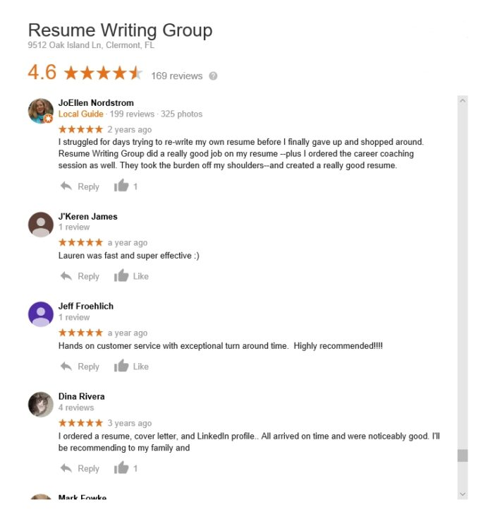 resume writing group reviews of resumewritinggroup sitejabber review appraiser assistant Resume Resume Writing Group Reviews