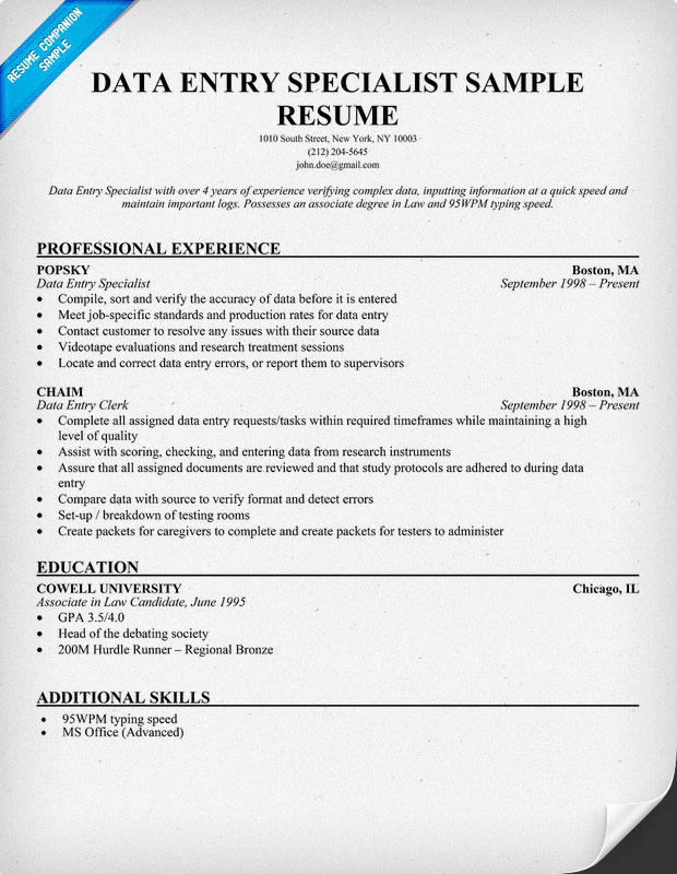 resume writing service accounting services data entry specialist sample courtesy clerk Resume Accounting Resume Writing Services