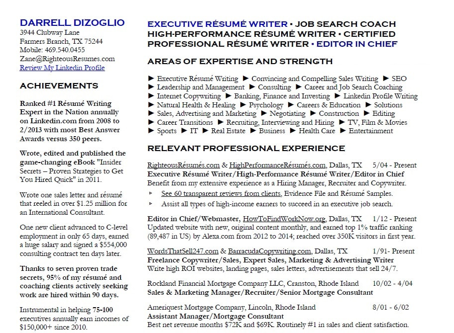 resume writing service in tx bob janitz fort healthcare executive writers cprw orig Resume Healthcare Executive Resume Writers