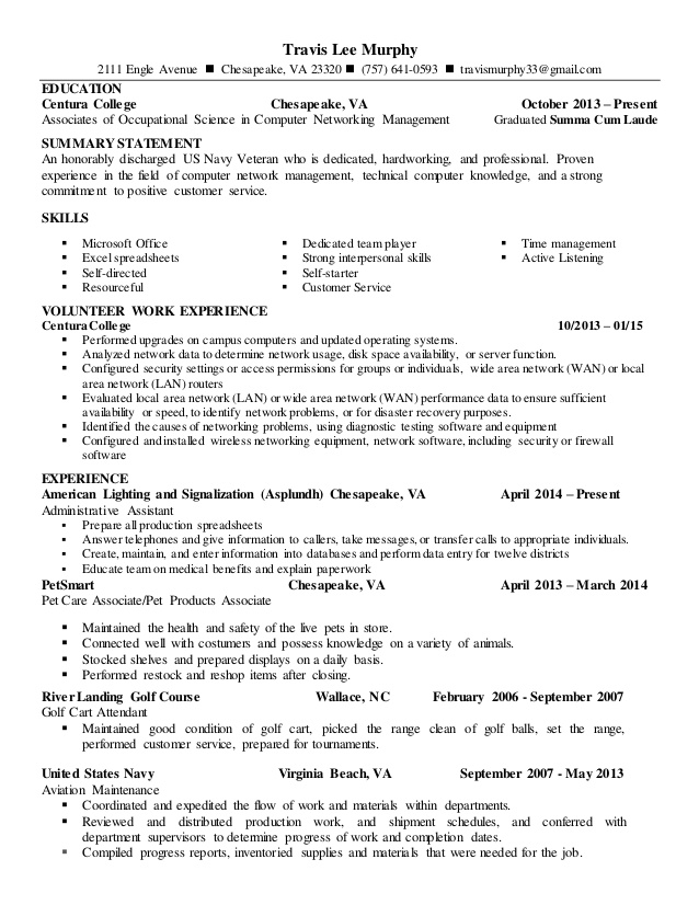 resume writing service va aviation murphy updated customer professional summary for Resume Aviation Resume Writing Service