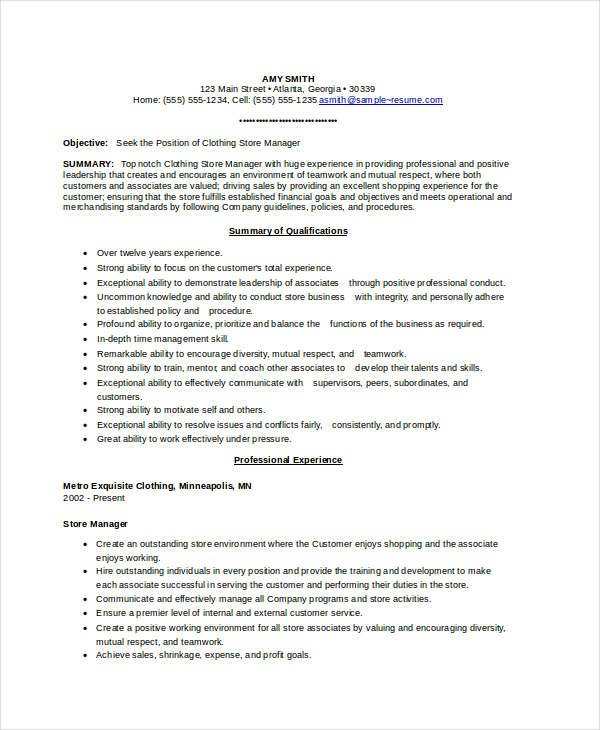 retail store manager resume sample grocery clothing samples employer on means central Resume Grocery Store Manager Resume