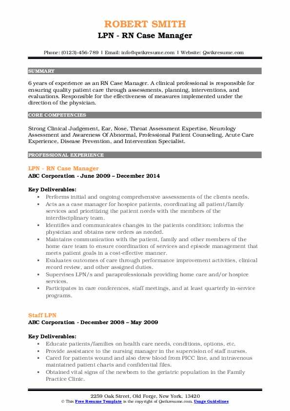 rn case manager resume samples qwikresume lvn pdf customer service based economist Resume Lvn Case Manager Resume