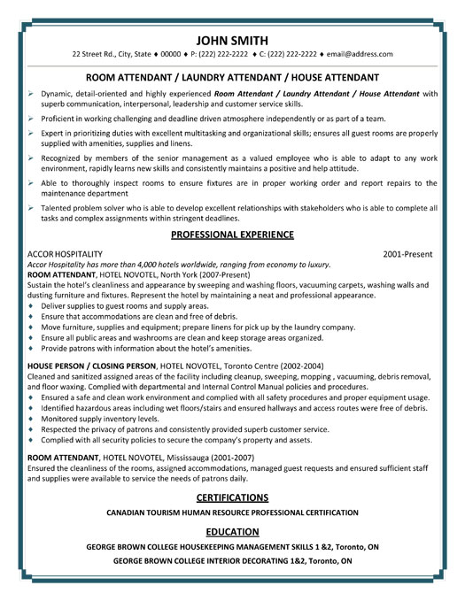 room attendant resume sample template hp professional laundry house rutgers builder Resume Room Attendant Resume Sample
