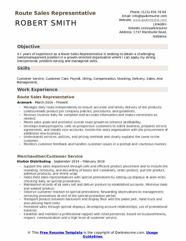 route representative resume samples qwikresume writing for position pdf listing Resume Writing A Resume For A Sales Position