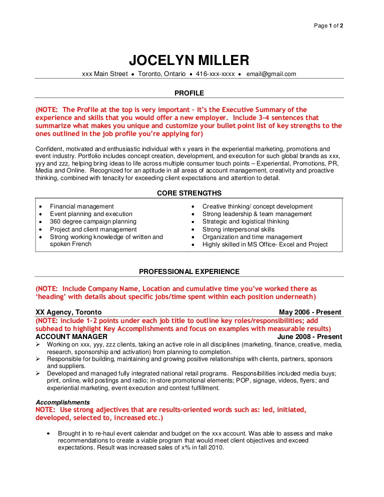 sample agency resume customize for each position samplejunioragencyresume phpapp02 Resume Customize Resume For Each Position
