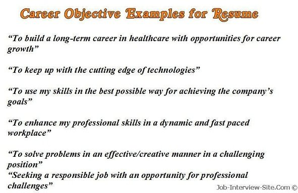 sample career objectives examples for resumes great objective statements resume first Resume Great Objective Statements For Resumes