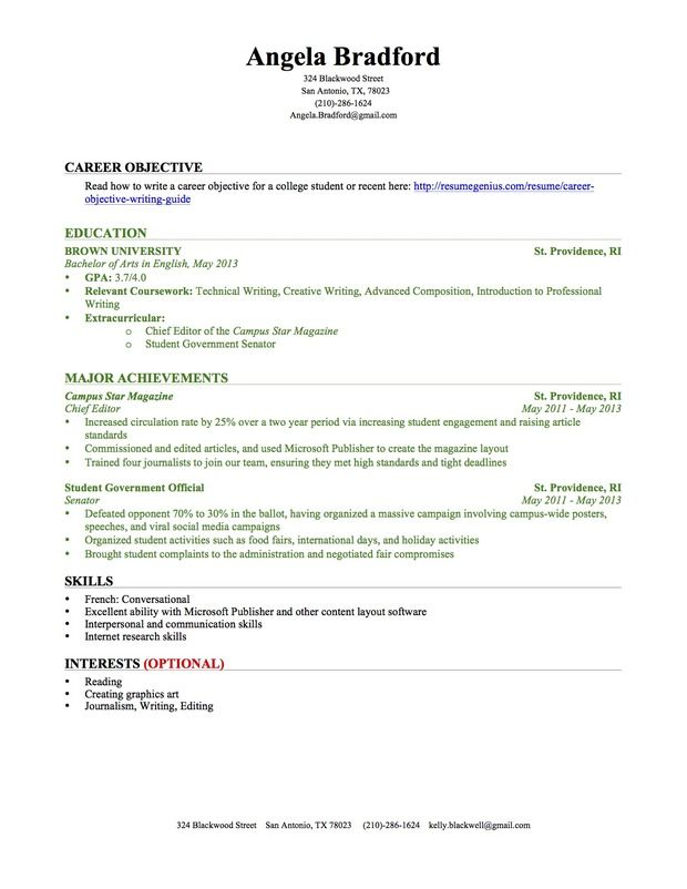 sample college resume with no work experience professional templates student template for Resume Resume For College Student With Little Experience