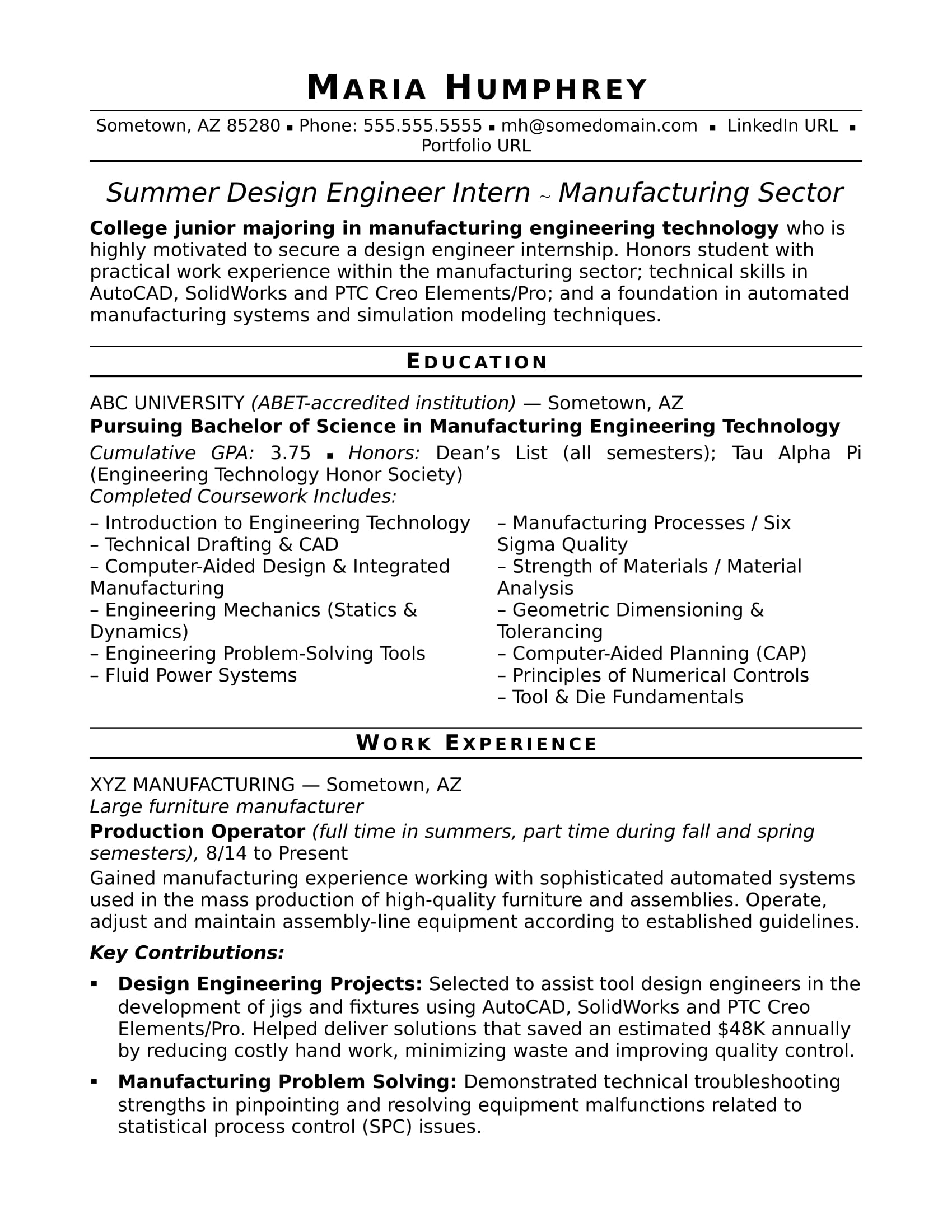 sample resume for an entry level design engineer monster engineering student examples Resume Engineering Student Resume Examples