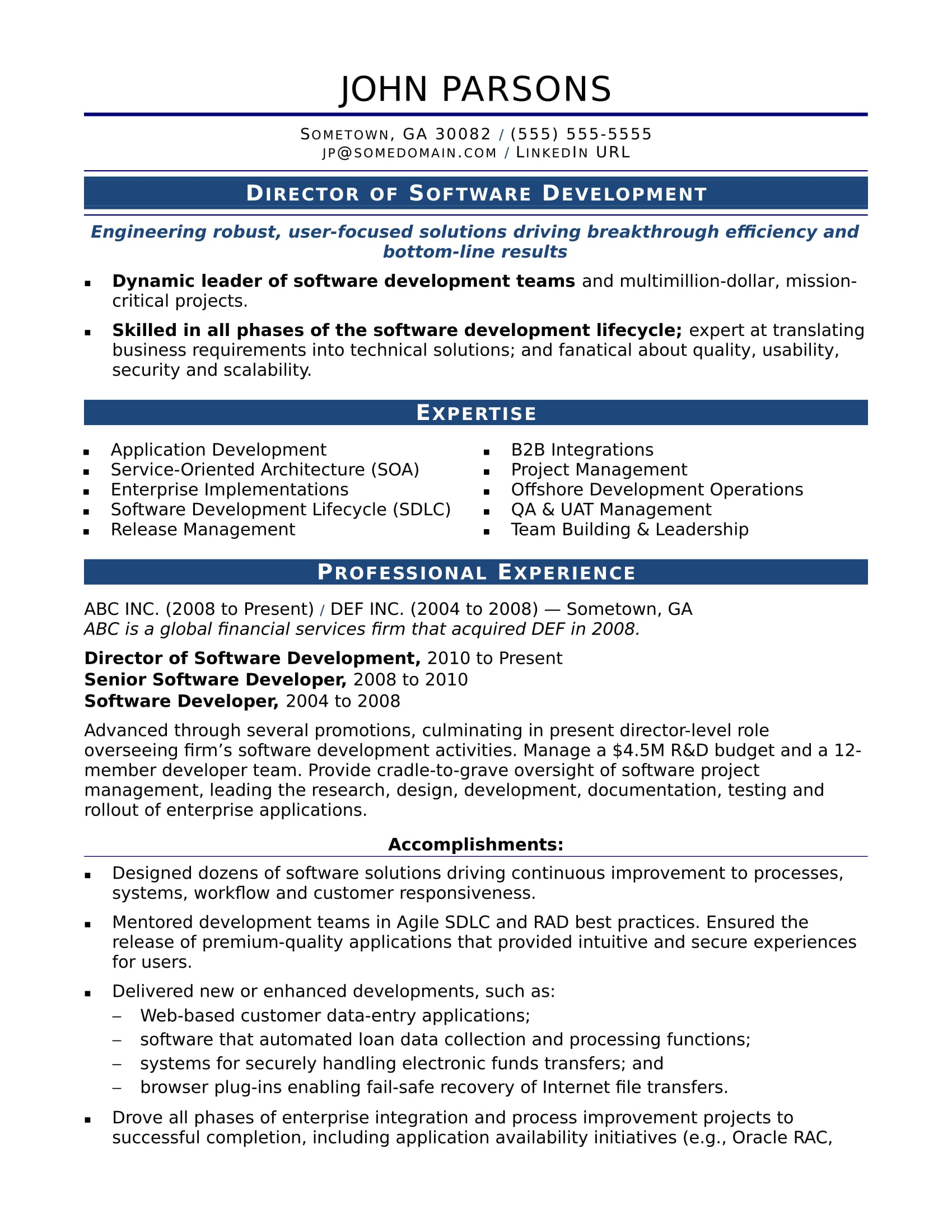 sample resume for an experienced it developer monster experience with software on cahier Resume Experience With Software On Resume