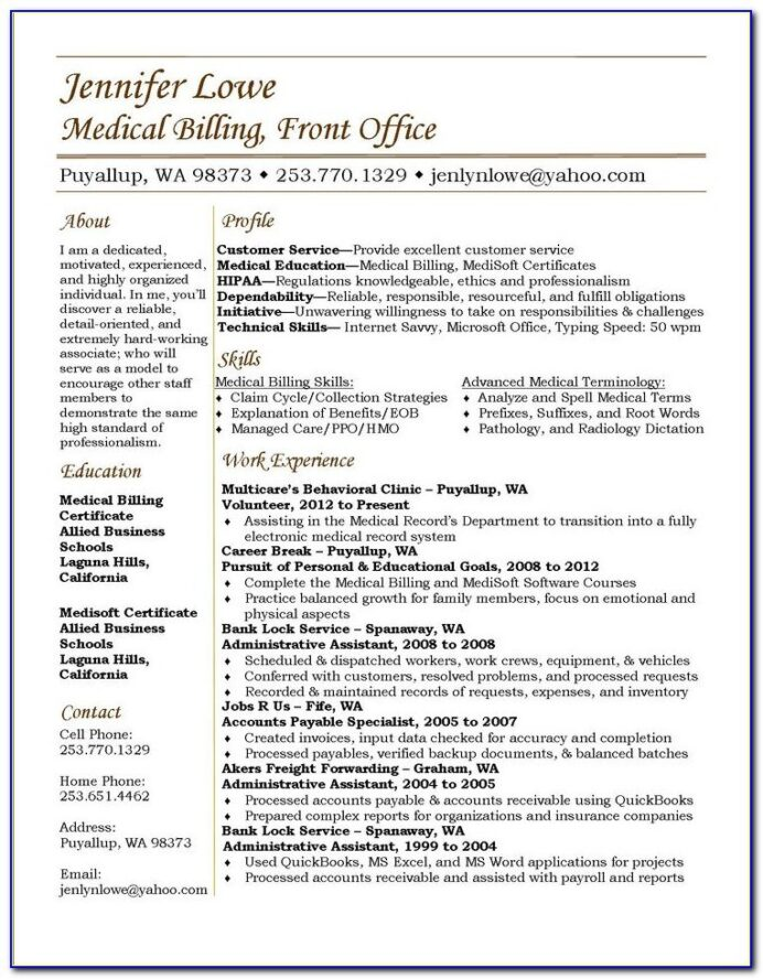 sample resume for entry level medical billing and coding vincegray2014 objective temp Resume Entry Level Medical Billing And Coding Resume Sample