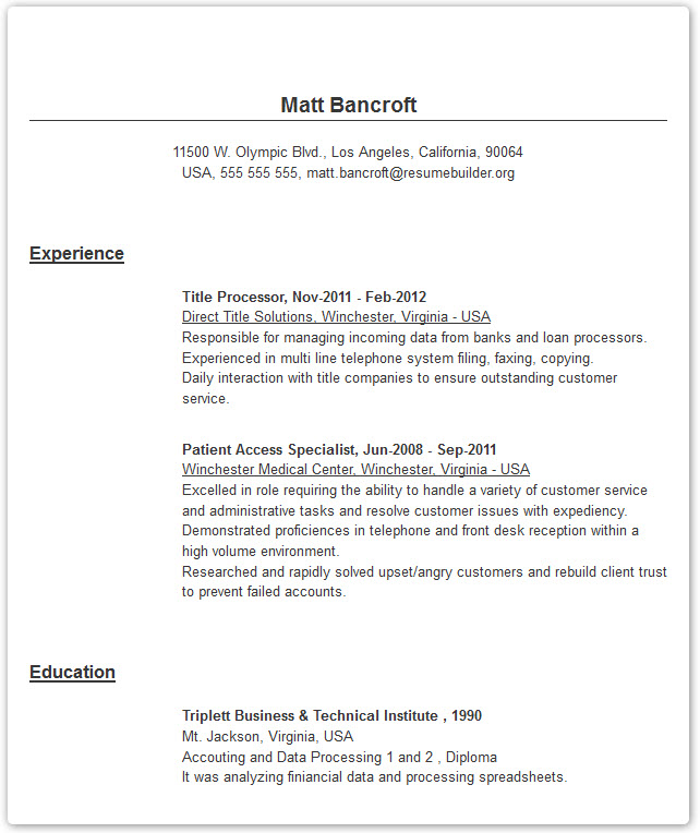 sample resume for job estee lauder skills on customer service profile photo simple Resume Sample Resume For Online Job