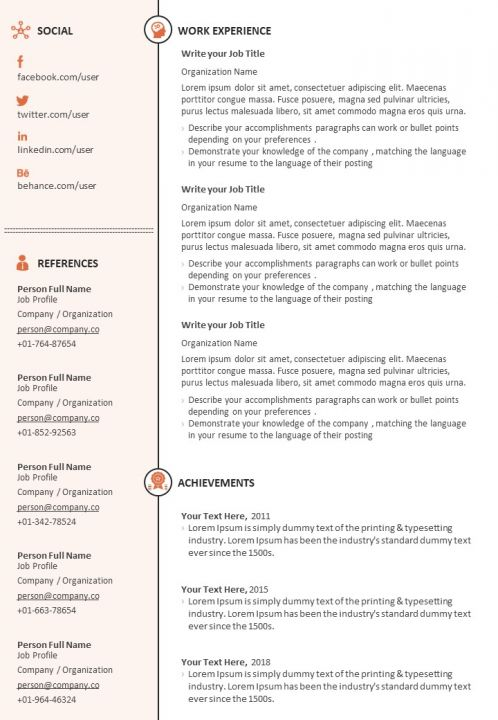sample resume format for job search powerpoint templates designs slide examples Resume Sample Resume For Older Job Seekers