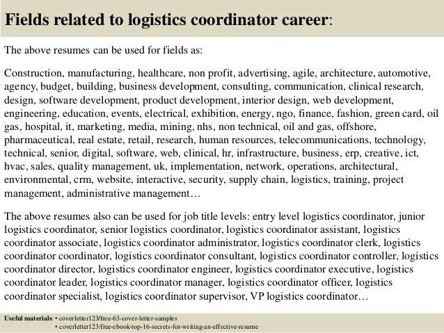 sample resume logistics manager coordinator objective ps4 high school first job office Resume Logistics Coordinator Resume Objective