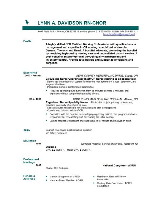 sample resume nurse no experience nursing student complete guide examples with templates Resume Nursing Student Resume With No Experience
