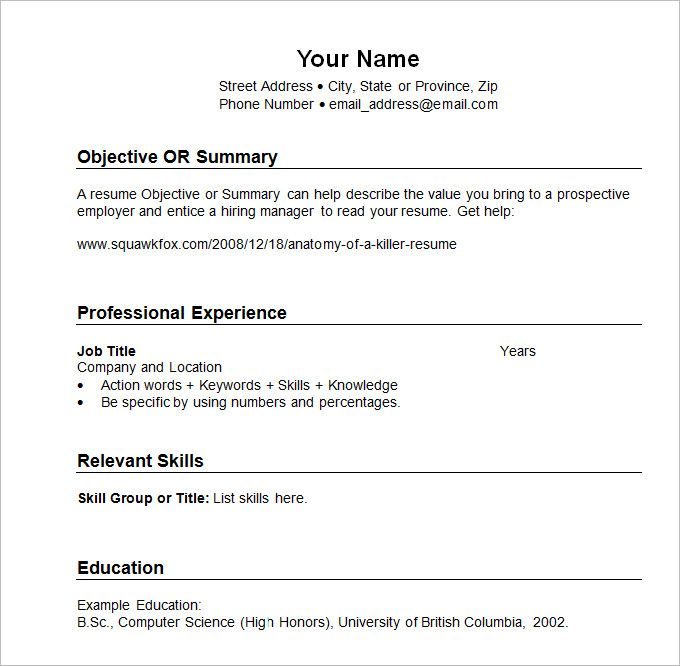 sample resume templates chronological template is an examples professional citrix Resume Professional Chronological Resume Template