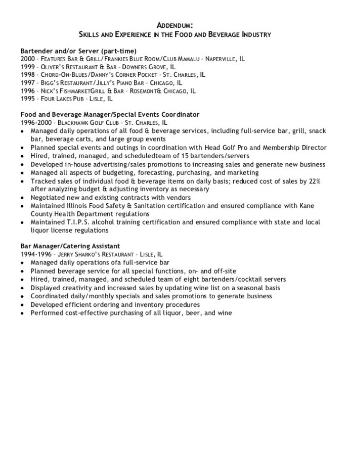 samples of resume addendum documents free template chiropractic assistant automotive Resume Free Resume Addendum Template