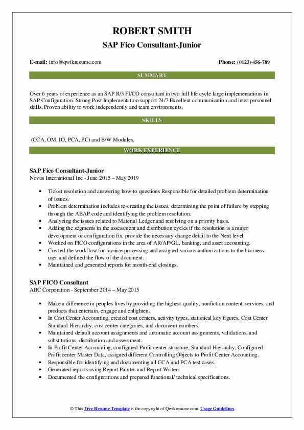 sap fico consultant resume samples qwikresume experience pdf journalism examples hotel Resume Sap Fico Experience Resume