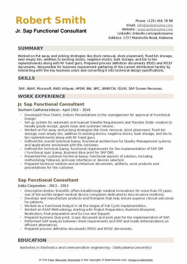 sap functional consultant resume samples qwikresume pdf oracle rac powerpoint template Resume Sap C4c Functional Consultant Resume