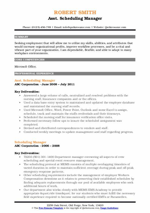scheduling manager resume samples qwikresume employee pdf office coordinator high school Resume Employee Scheduling Resume