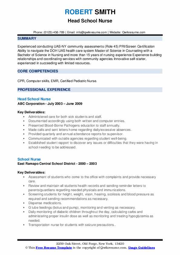 school nurse resume samples qwikresume examples for nursing jobs pdf jira sample computer Resume Resume Examples For Nursing Jobs