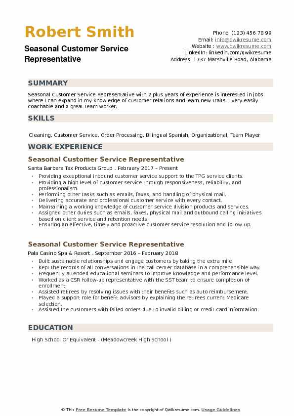 seasonal customer service representative resume samples qwikresume job description pdf Resume Customer Service Representative Job Description Resume