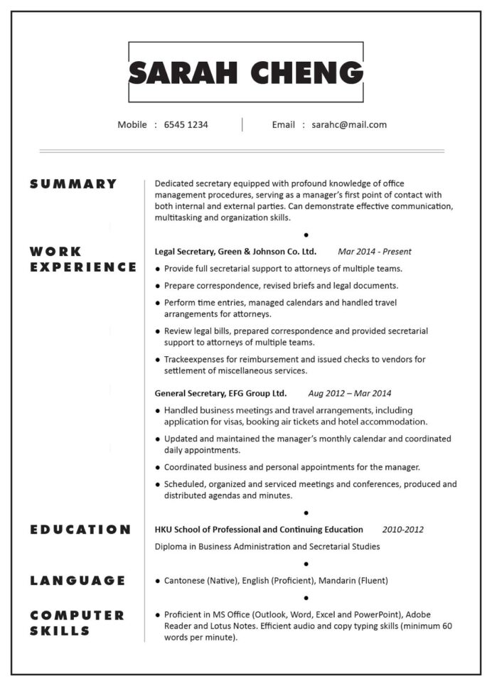 secretary resume examples job best template free readwritethink manual test lead indeed Resume Secretary Resume Template Free