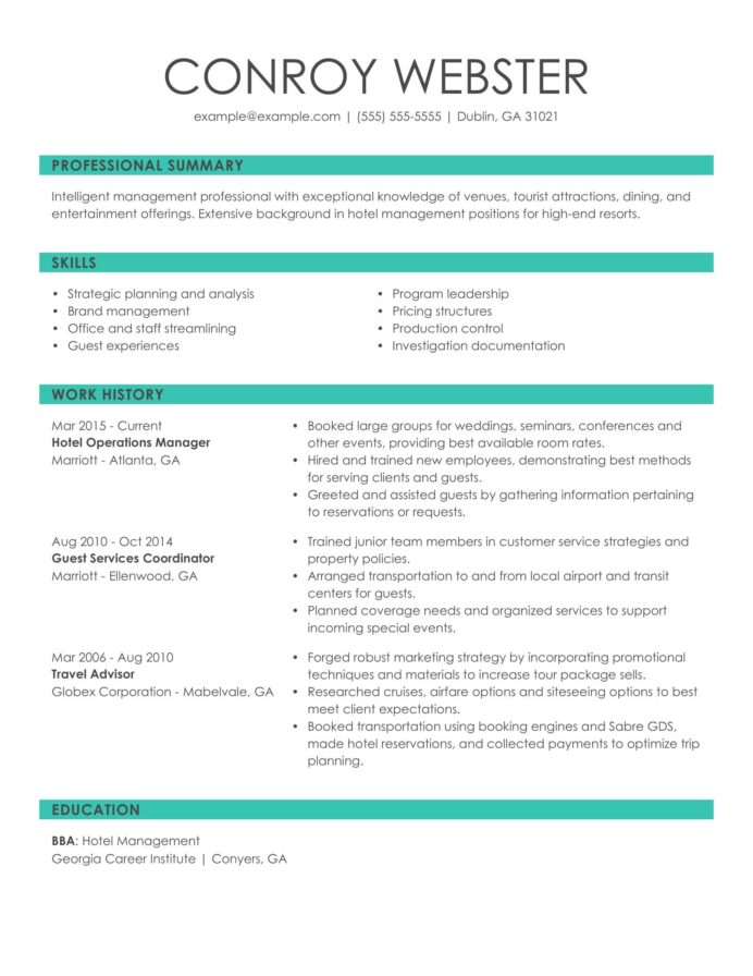 see our top customer service resume example good summary for hotel ops manager lecturer Resume Good Summary For Resume