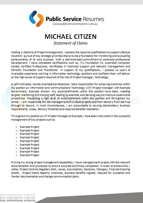 selection criteria writers statement of claims aps resume examples public service resumes Resume Resume Selection Criteria Examples