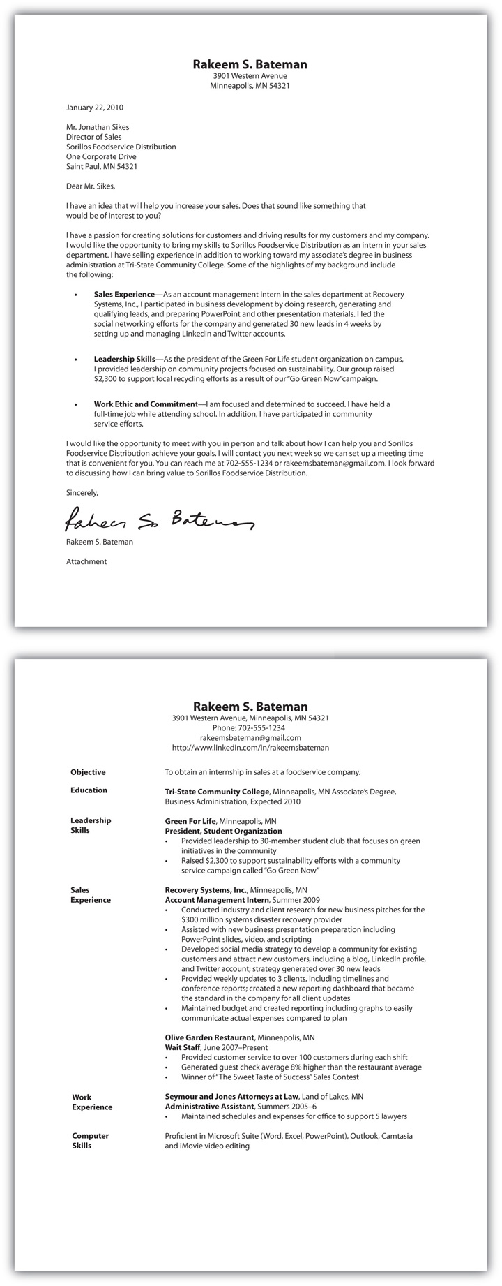 selling résumé and cover letter essentials resume examples sample for sanitation worker Resume Cover Letter And Resume Examples