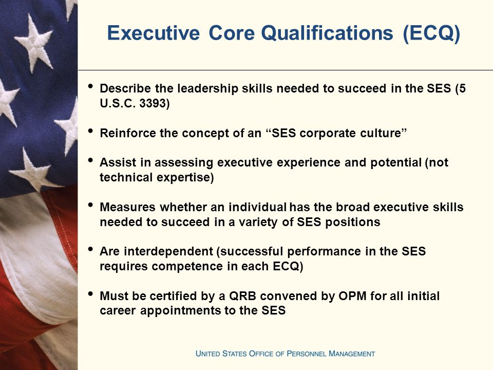 senior executive service core qualifications preparing for the ses office of personnel Resume Ses Ecq Resume Example