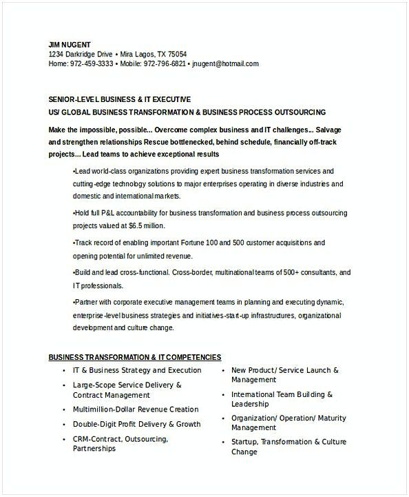 senior it executive resume operations manager do you want to make the best ma management Resume Business Process Outsourcing Resume