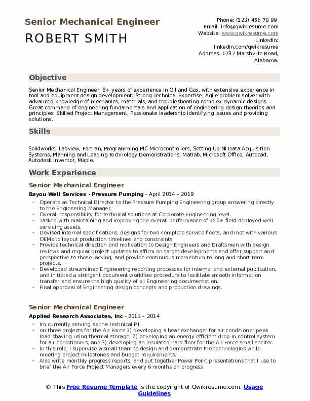 senior mechanical engineer resume samples qwikresume engineering objective pdf words Resume Mechanical Engineering Resume Objective