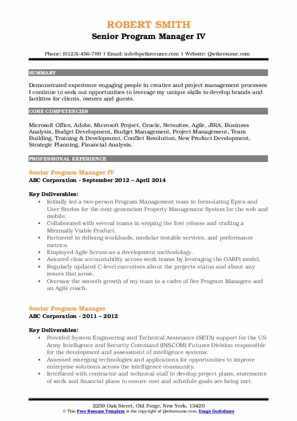 senior program manager resume samples qwikresume pdf server experience examples contoh Resume Senior Program Manager Resume