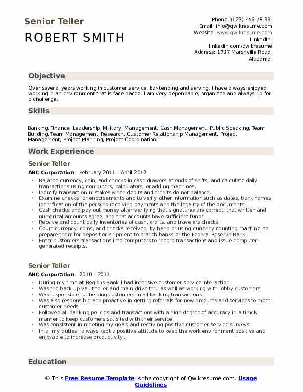 senior resume samples qwikresume professional pdf medical assistant student windows Resume Professional Teller Resume