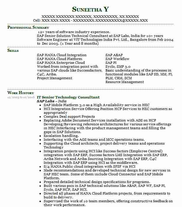 senior technology consultant resume example deloitte consulting llp federal cary north Resume Sap C4c Functional Consultant Resume