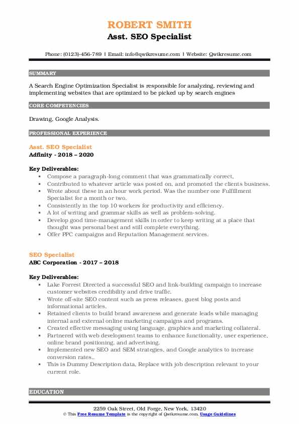 seo specialist resume samples qwikresume search optimization pdf traditional template new Resume Resume Search Optimization