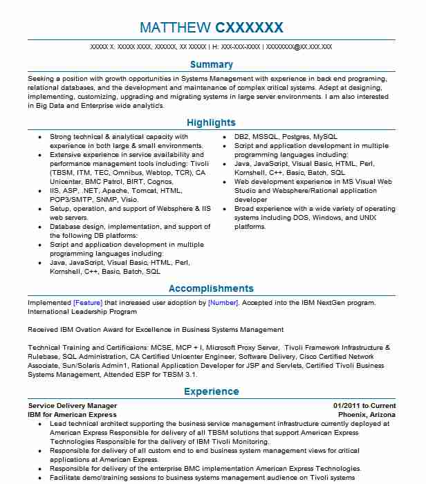 service delivery manager resume example schlumberger sample follow up letter after Resume Cloud Service Delivery Manager Resume