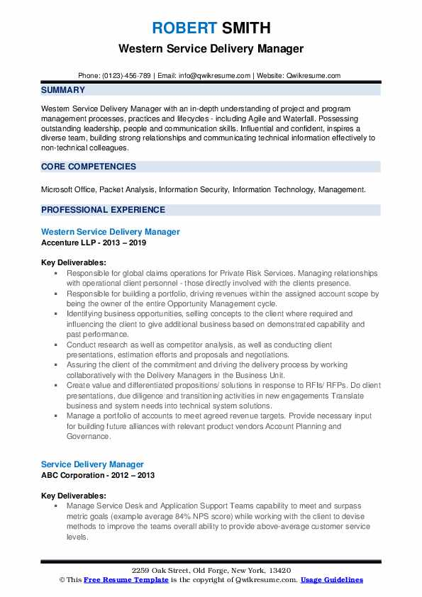 service delivery manager resume samples qwikresume information technology pdf cash office Resume Information Technology Resume Service