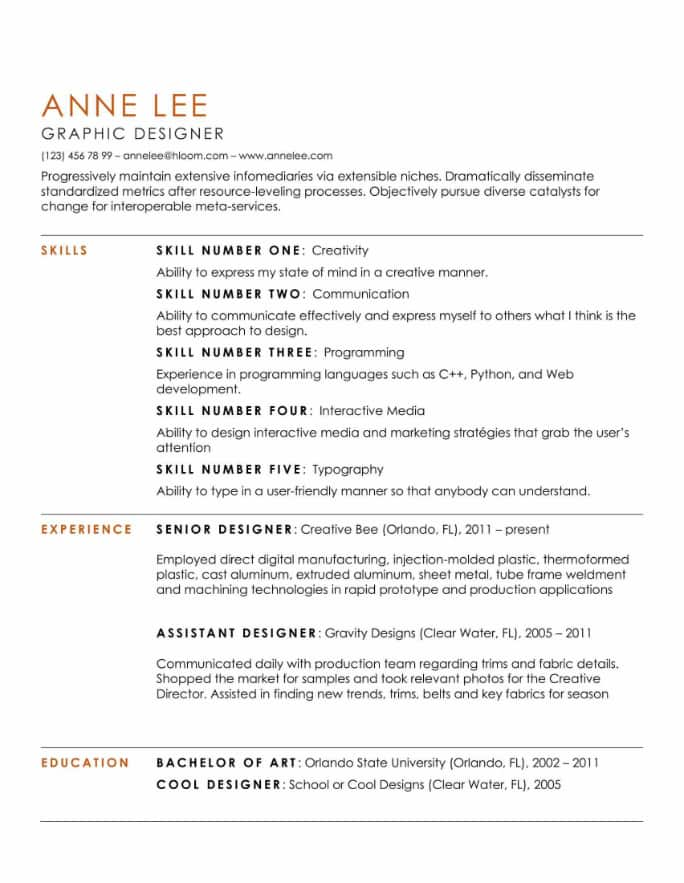 simple and clean resume templates expert tips hloom easy to read format substantial Resume Easy To Read Resume Format