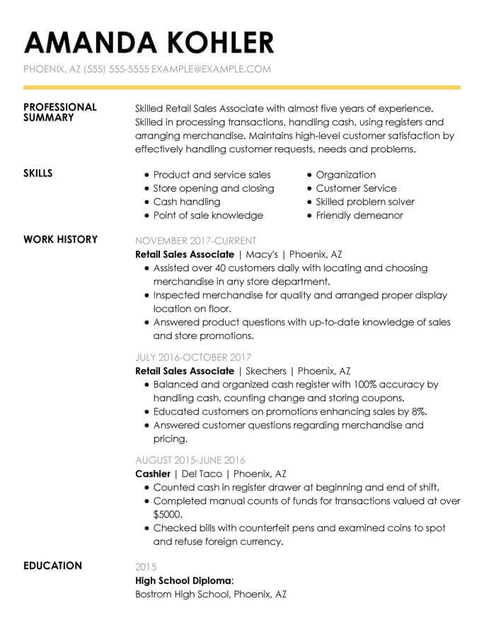 simple and clean resume templates expert tips hloom free with bullet points retail Resume Free Resume Templates With Bullet Points