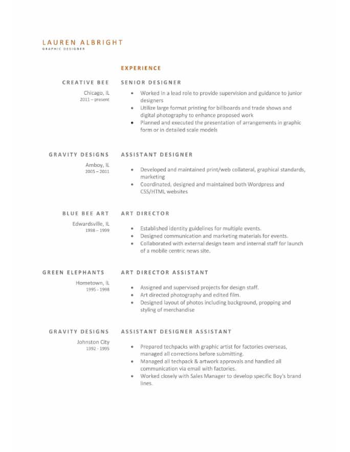 simple and clean resume templates expert tips hloom full format upfront entry level Resume Simple Full Resume Format