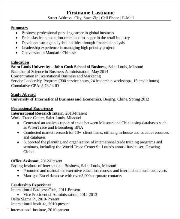 simple business resume templates pdf free premium template international follow up email Resume Simple Business Resume Template