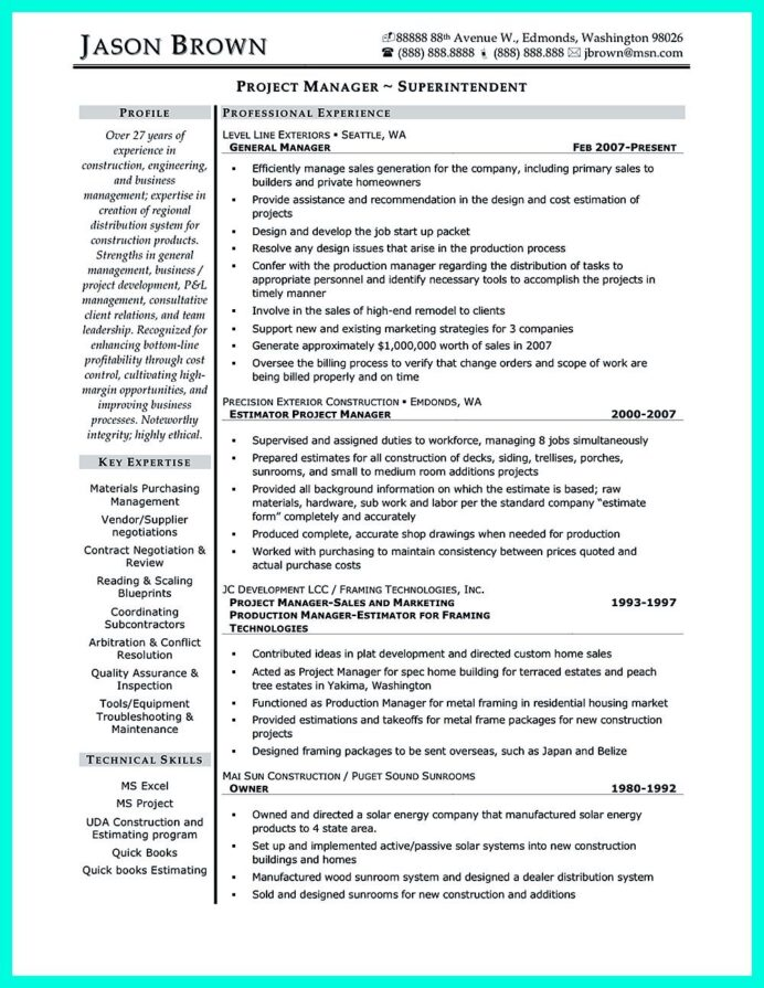 simple construction superintendent resume example to get applied project manager examples Resume Construction Superintendent Resume Examples