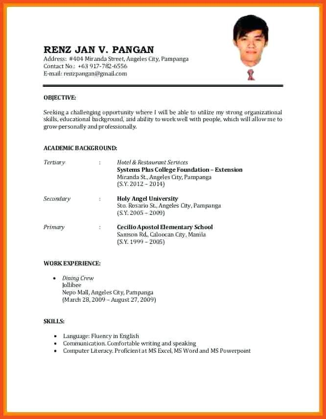 simple job application resume format best examples example of to apply surgical scheduler Resume Example Of Resume To Apply Job