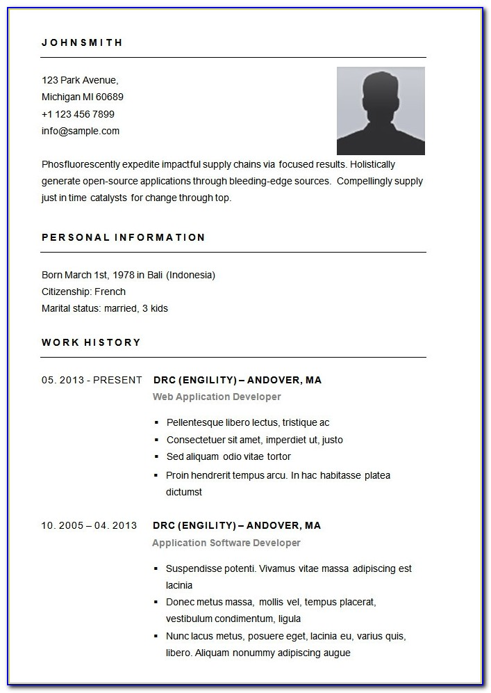 simple resume format sample vincegray2014 basic ms word collection specialist job Resume Basic Simple Resume Sample