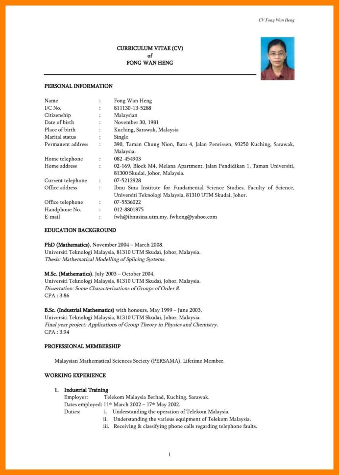 simple resume template free with format dow word sample it templates research assistant Resume Sample It Resume Templates